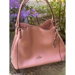 Coach Light Pink Hobo Shoulder Bag